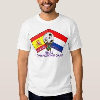 Países Bajos contra la camiseta 2010 del fútbol de Playera