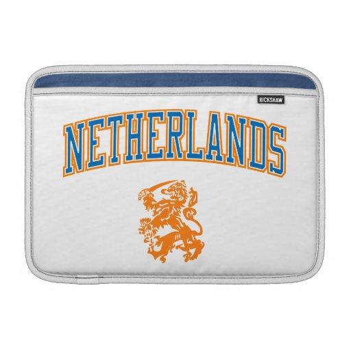 Países Bajos + Escudo Funda MacBook