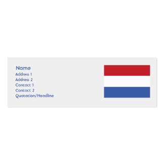 Países Bajos - flacos Tarjetas De Visita Mini