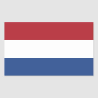 Países Bajos/Holanda/bandera holandesa/holandesa Pegatina Rectangular