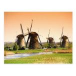 Países Bajos, Kinderdijk. Molinoes de viento al la Postal