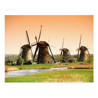 Países Bajos, Kinderdijk. Molinoes de viento al Postales
