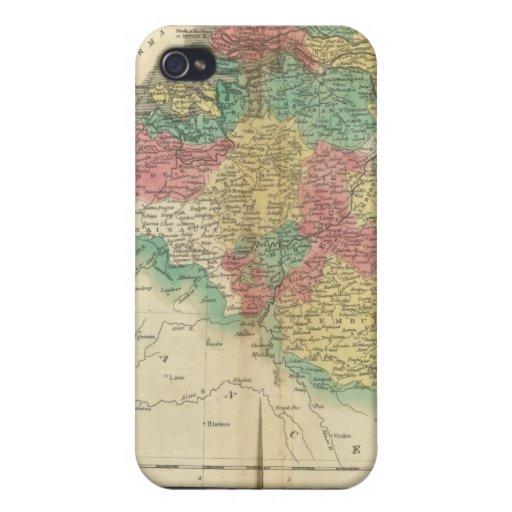 Países Bajos, mapa del atlas de Beligium iPhone 4/4S Carcasa