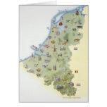 Países Bajos, mapa que muestra distinguiendo carac Tarjeton