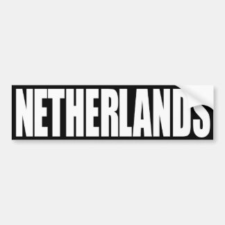 Países Bajos Pegatina Para Auto