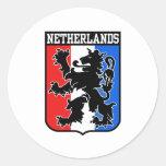 Países Bajos Pegatinas Redondas