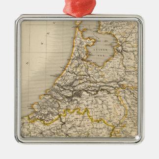 Países Bajos y Bélgica 2 Adorno Navideño Cuadrado De Metal