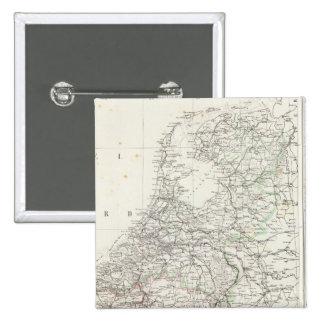 Países Bajos y Bélgica 4 Pin Cuadrada 5 Cm