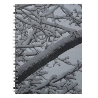 Países de las maravillas del invierno spiral notebooks