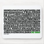Países de un Ummah Alfombrilla De Ratón