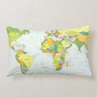 Países del atlas del globo del mapa del mundo almohadas