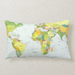 Países del atlas del globo del mapa del mundo cojín lumbar