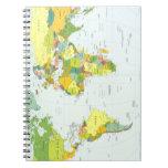 Países del atlas del globo del mapa del mundo libreta espiral