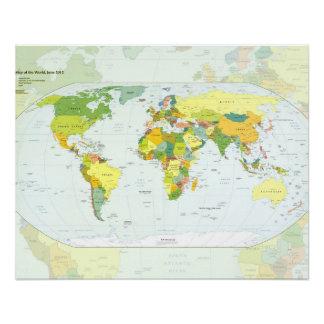 Países del atlas del globo del mapa del mundo