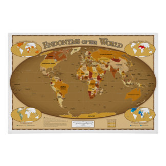 Países del mundo en su lengua local (Endonyms) Poster