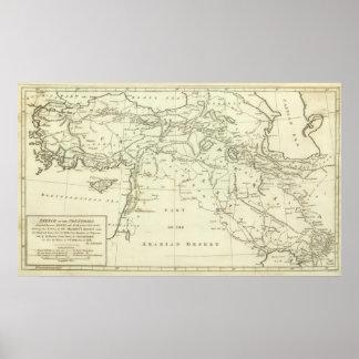 Países situados entre Shiraz Póster
