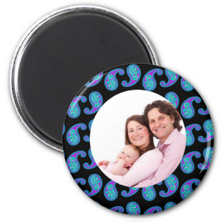 Paisley 2 2 inch round magnet
