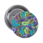 Paisley 2 Inch Round Button