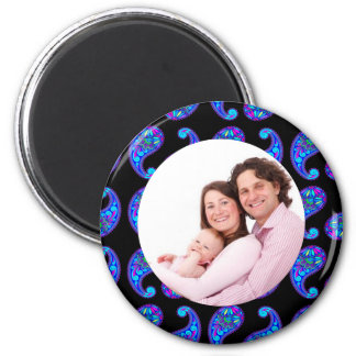Paisley 2 Inch Round Magnet