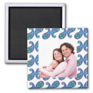 Paisley 2 Inch Square Magnet