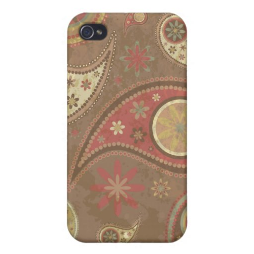 Paisley 2 retros - plantilla del personalizar iPhone 4/4S carcasas