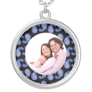 Paisley 2 silver plated necklace