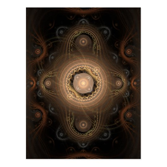 Paisley Abstract Fractal Design Postcard