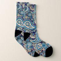 Paisley abstract pattern socks