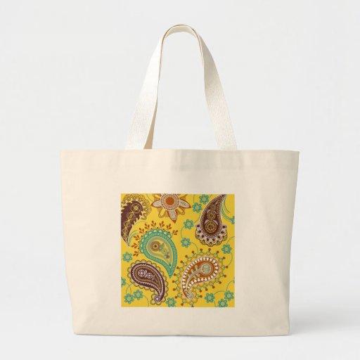 Paisley amarilla bolsas de mano