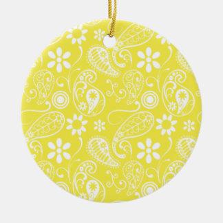 Paisley amarilla limón ornato