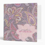 Paisley and flower pattern binder