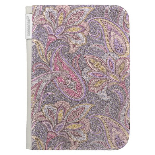 Paisley and flower pattern kindle keyboard cases