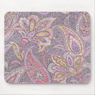 Paisley and flower pattern mouse pads