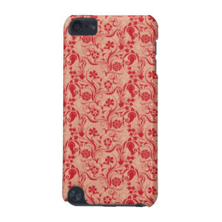 Paisley and Flowers Pattern in Red and Peach iPod Touch (5th Generation) Covers