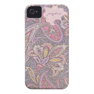 Paisley and flowers pattern iPhone 4 cover