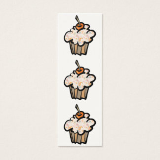 paisley and hearts cupcake bookmark mini business card