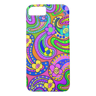 Paisley and Poppies iPhone 7 case