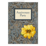 Paisley and Rose Anniversary Party 20 Greeting Card