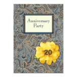 Paisley and Rose Anniversary Party 20 Invitations