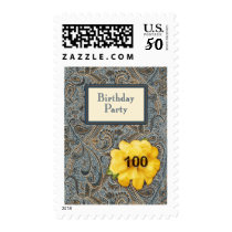 Paisley and Rose Birthday 100 Postage