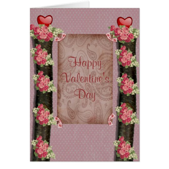 Paisley and Roses Card
