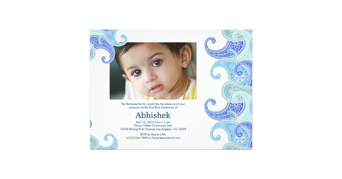 Paisley Annaprashan First Rice Invitation
