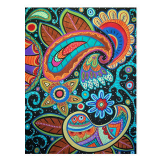 Paisley Art image products items Post Card
