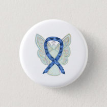 Paisley Awareness Ribbon Angel Art Pin Buttons