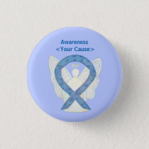 Paisley Awareness Ribbon Angel Custom Art Buttons