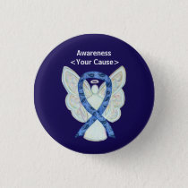 Paisley Awareness Ribbon Angel Customized Art Pins