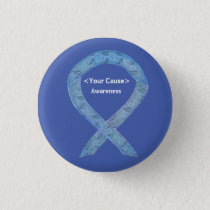 Paisley Awareness Ribbon Custom Art Pin Buttons