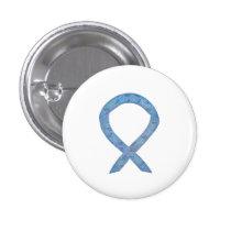 Paisley Awareness Ribbon Custom Pin Buttons
