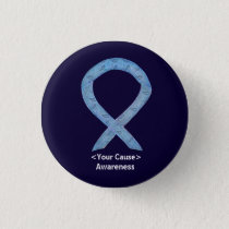 Paisley Awareness Ribbon Personalized Button Pins