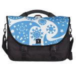 Paisley azul bolsas para ordenador